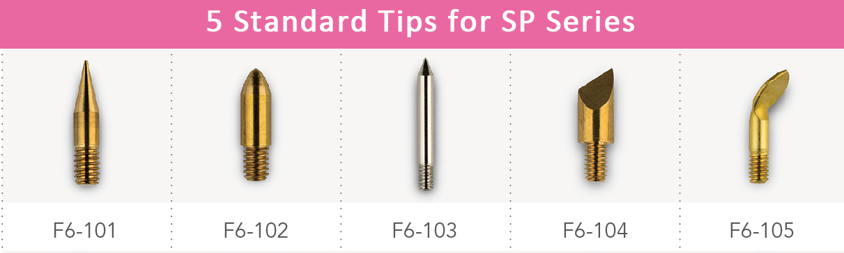 Standard tips for SP Series